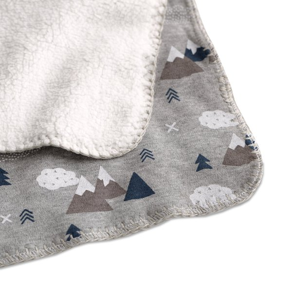 View larger image of Baby Blanket with Sherpa - Peaks