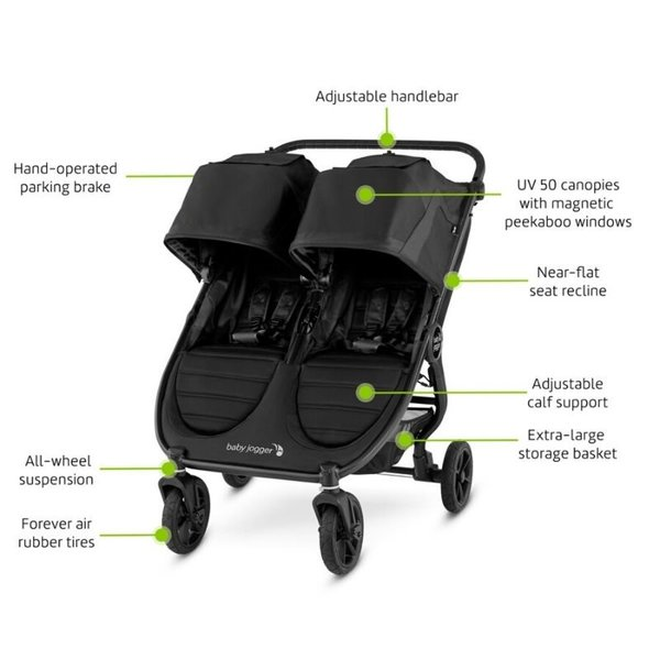 View larger image of City Mini GT2 Double Stroller - Jet