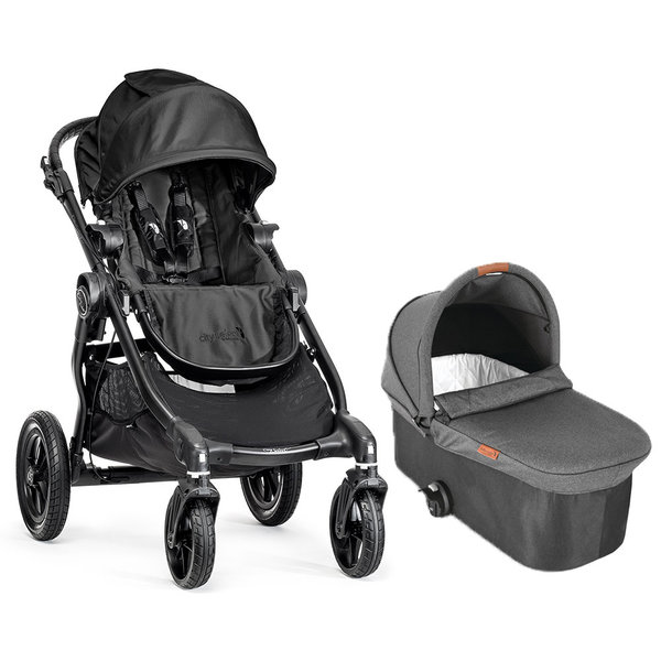 View larger image of City Select Stroller Black with Bassinet