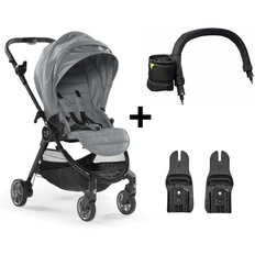City Tour LUX Stroller Bundle [Free Adapter + Belly Bar]