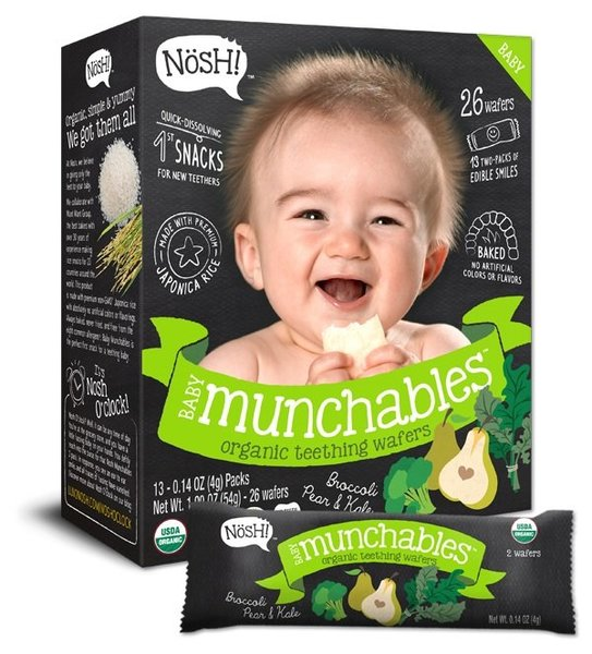View larger image of Baby Munchables Organic Teething Wafers - Broccoli, Pear & Kale