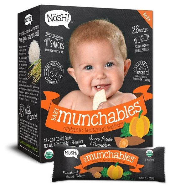 View larger image of Baby Munchables Organic Teething Wafers - Sweet Potato & Pumpkin