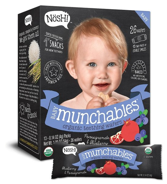 View larger image of Baby Munchables Organic Teething Wafers - Pomegranate & Blueberry
