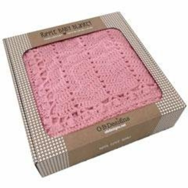 View larger image of Baby Ripple Blanket-Blush