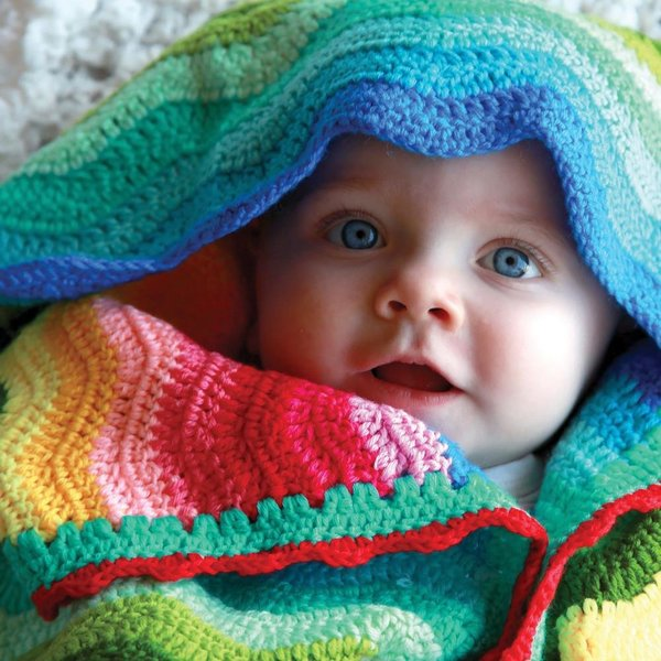 View larger image of Baby Ripple Blanket-Rainbow