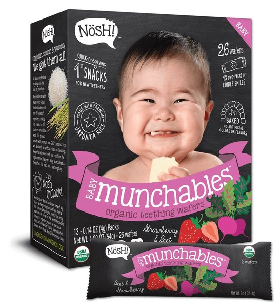 View larger image of Baby Munchables Organic Teething Wafers - Strawberry & Beet
