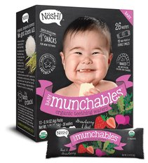 Baby Munchables Organic Teething Wafers - Strawberry & Beet