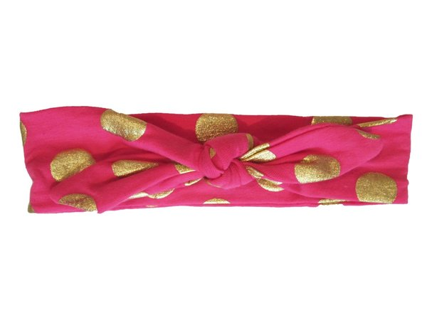View larger image of Bunny Ear Headband - Gold Dots