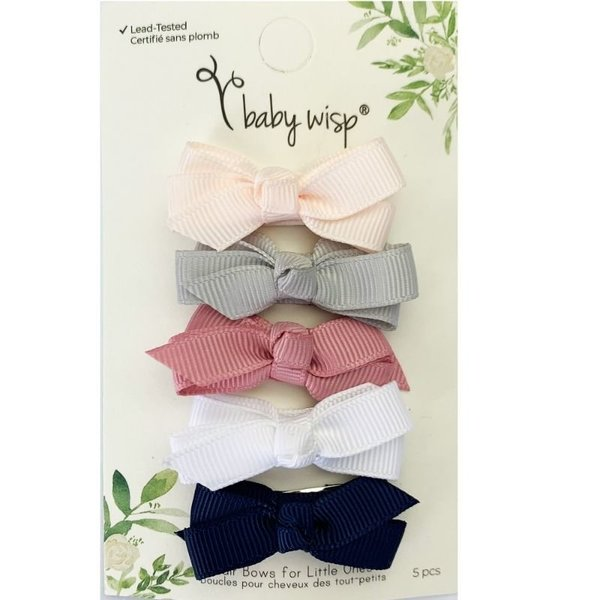 View larger image of Snap Click Chelsea Bows - 5pk