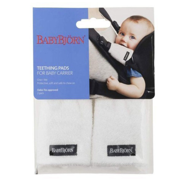 View larger image of Baby Carrier Teething Pads (2 pack) - White