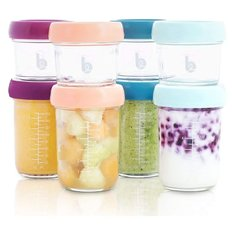 Babybols Glass Food Storage Containers - 8 pack