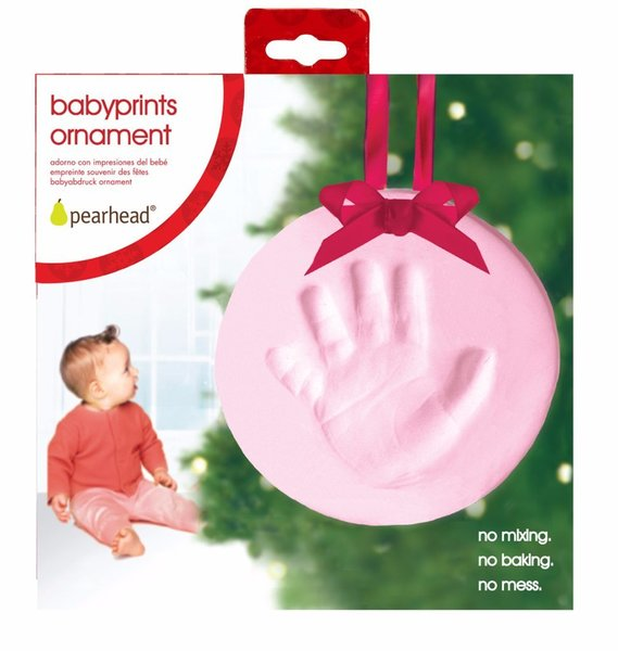 View larger image of BabyPrints Pink Ornament