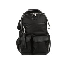 Boss Diaper Bag Backpack - Black Herringbone