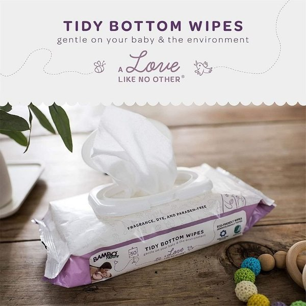 View larger image of Tidy Bottom Baby Wipes - 50 Count