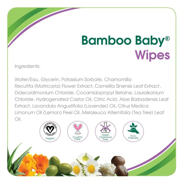 View larger image of Bamboo Baby Wipes - 80 pack
