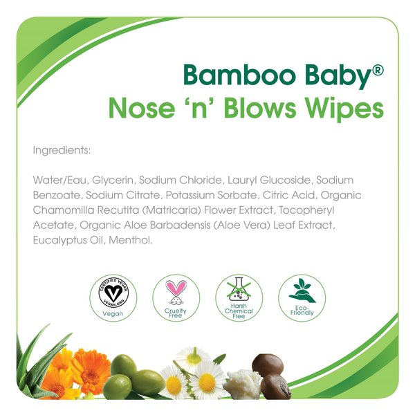 View larger image of Bamboo Baby Nose n' Blows wipes 30pk