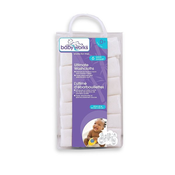 View larger image of Bamboo Washcloths - 6 Pack