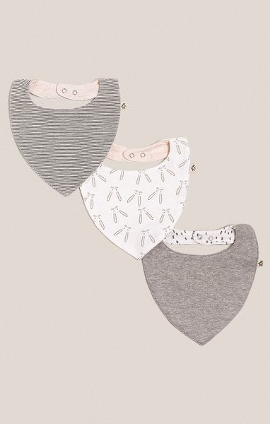 View larger image of Bandana Bib - 3 Pack - Girl