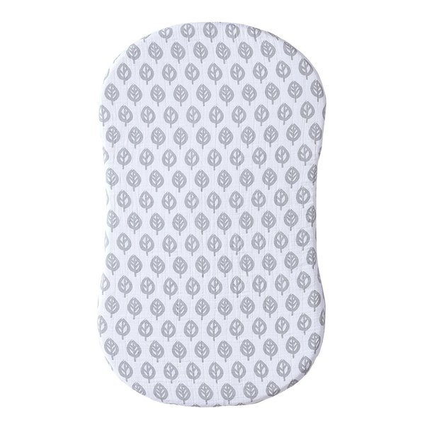 View larger image of Bassinest Swivel Sleeper Fitted Sheet Muslin - Leaf