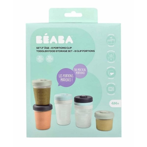 View larger image of Baby Food Clip Containers Set of 8 - Large