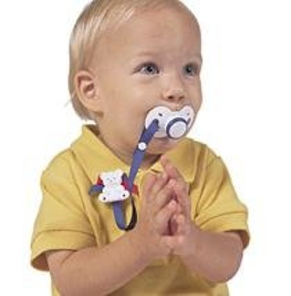 View larger image of Bear Pacifier/Toy Holder - Asort Colour
