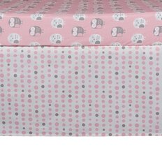 Bed Skirt -Pink Dots