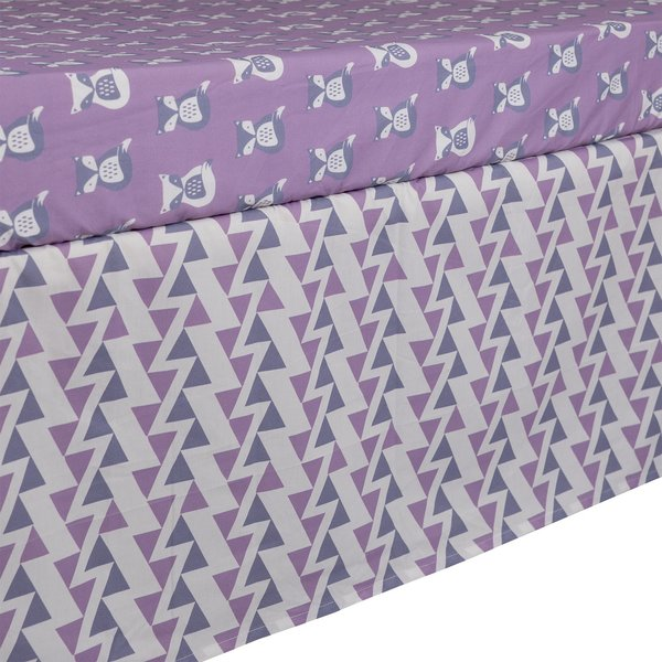 View larger image of Bed Skirt -Purple Zigzag