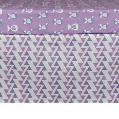 Bed Skirt -Purple Zigzag