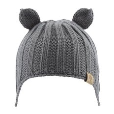 Beanie w/ Ear Cover - Grey