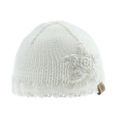 Knit Beanie w/ Star - Off White