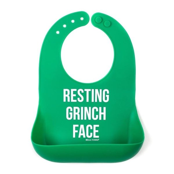 View larger image of Bib - Resting Grinch Face