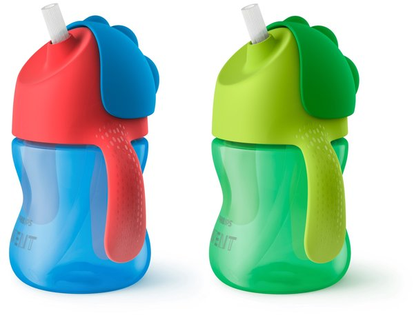 View larger image of Bendy Straw Cup - 7oz - 2 Pack - Boy