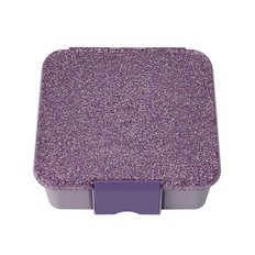 Bento 3 Lunch Box - Glitter Purple
