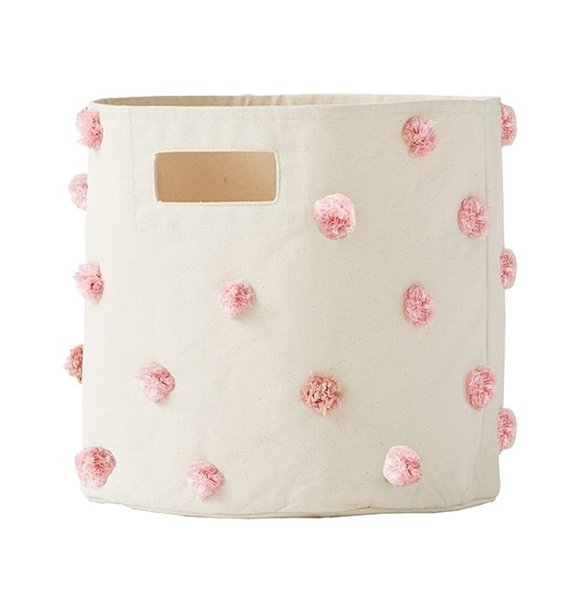 View larger image of Storage Bin Pom Pom Pink