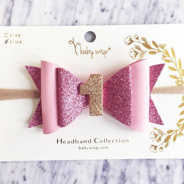 View larger image of 1st Birthday Headband - Pink Glitter