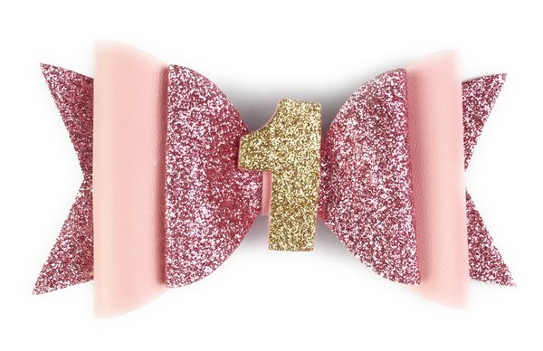 View larger image of Birthday Pinch Clip - Pink Glitter