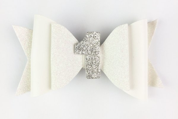 View larger image of Birthday Pinch Clip - White Glitter