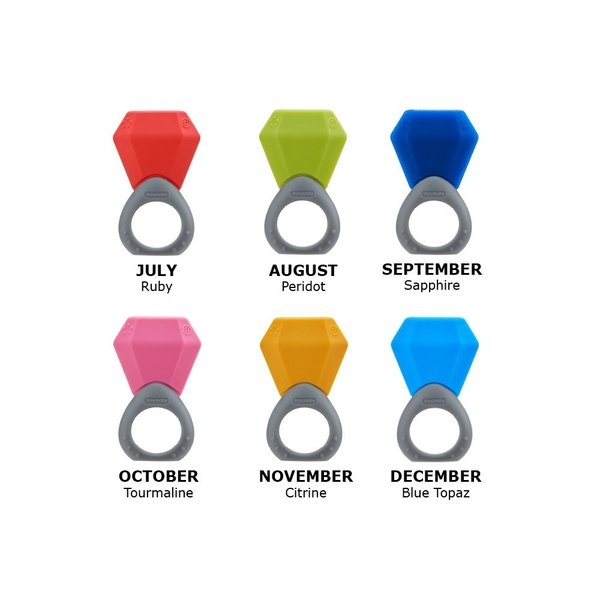 View larger image of Birthstone Ring Teether - January