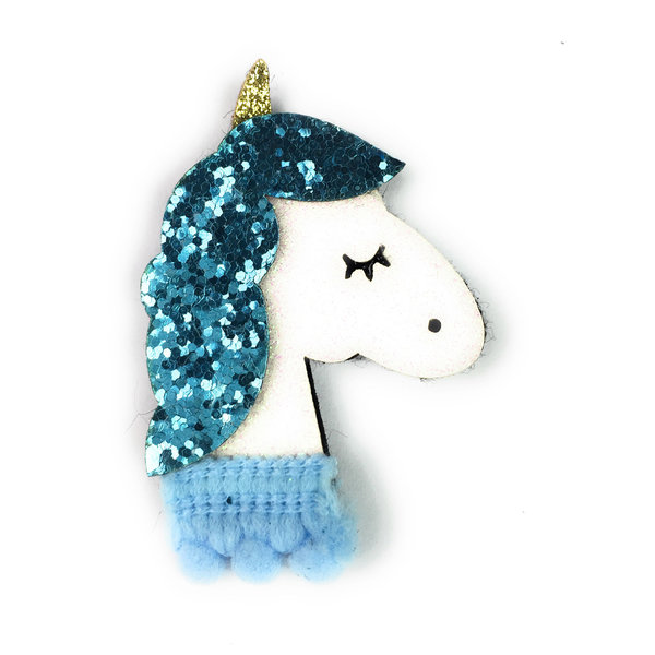 View larger image of Blue Sparkly Unicorn Clip