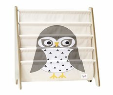 3Sprouts Book Rack - Gray Owl