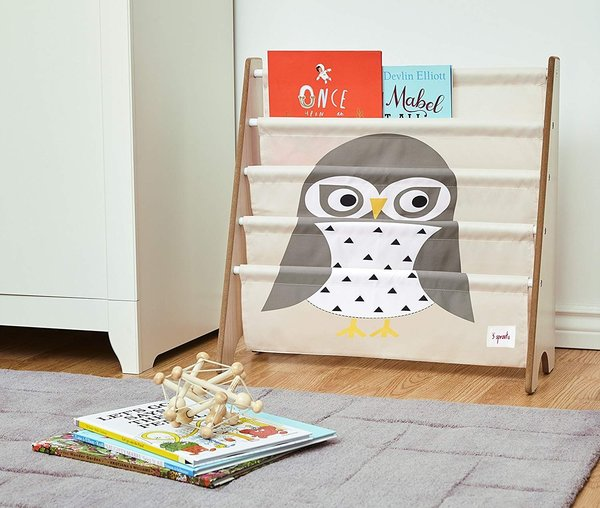 View larger image of Book Rack - Gray Owl