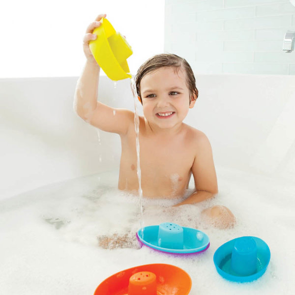 View larger image of Fleet Stacking Boats Bath Toy