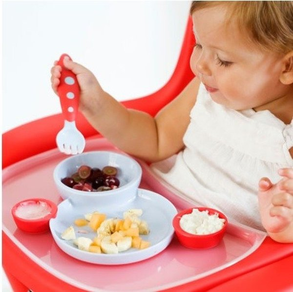 View larger image of Groovy+Modware Plate/Bowl Set - Cherry