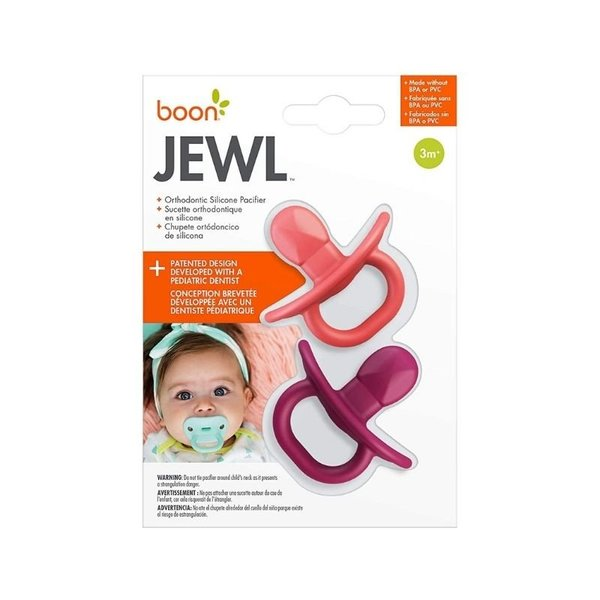 View larger image of Jewl Orthodontic Silicone Pacifier - 2 Pack