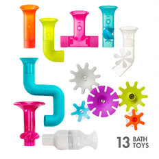 Pipes & Tubes & Cogs Bath Toy Set