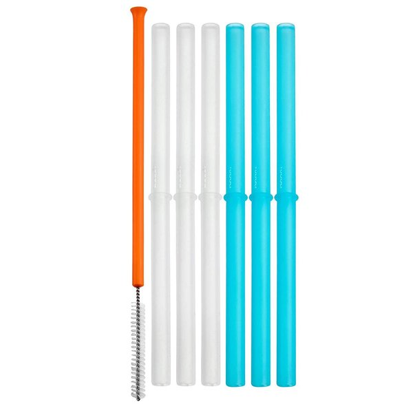 View larger image of SNUG Silicone Spill-Proof Straws - 6 Pack