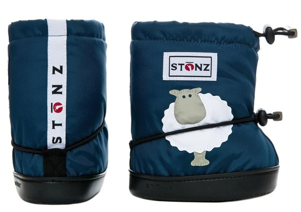 View larger image of Booties - Navy Sheep