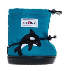 Booties - Teal Orca