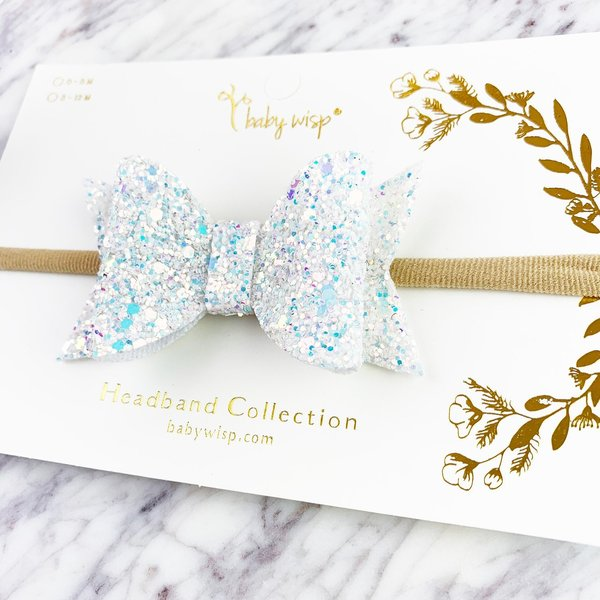 View larger image of Bow Headband-Snow Glitter