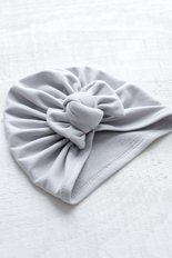 Bow Turban - Grey